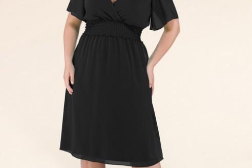black dress plus size 4