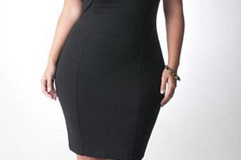 black dress plus size canada