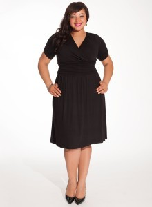 black dress plus size cocktail