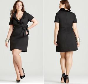black dress plus size funeral