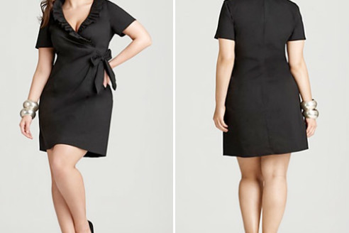 black dress plus size funeral