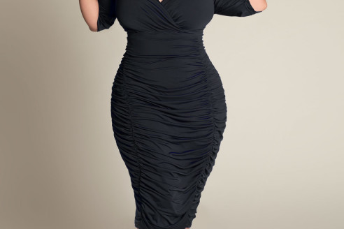 black dress plus size uk