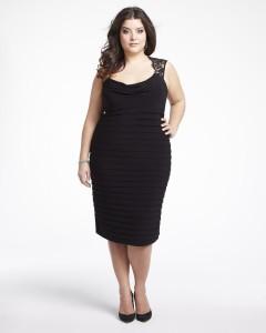 black dress plus size wedding
