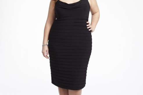 black dress plus size wedding