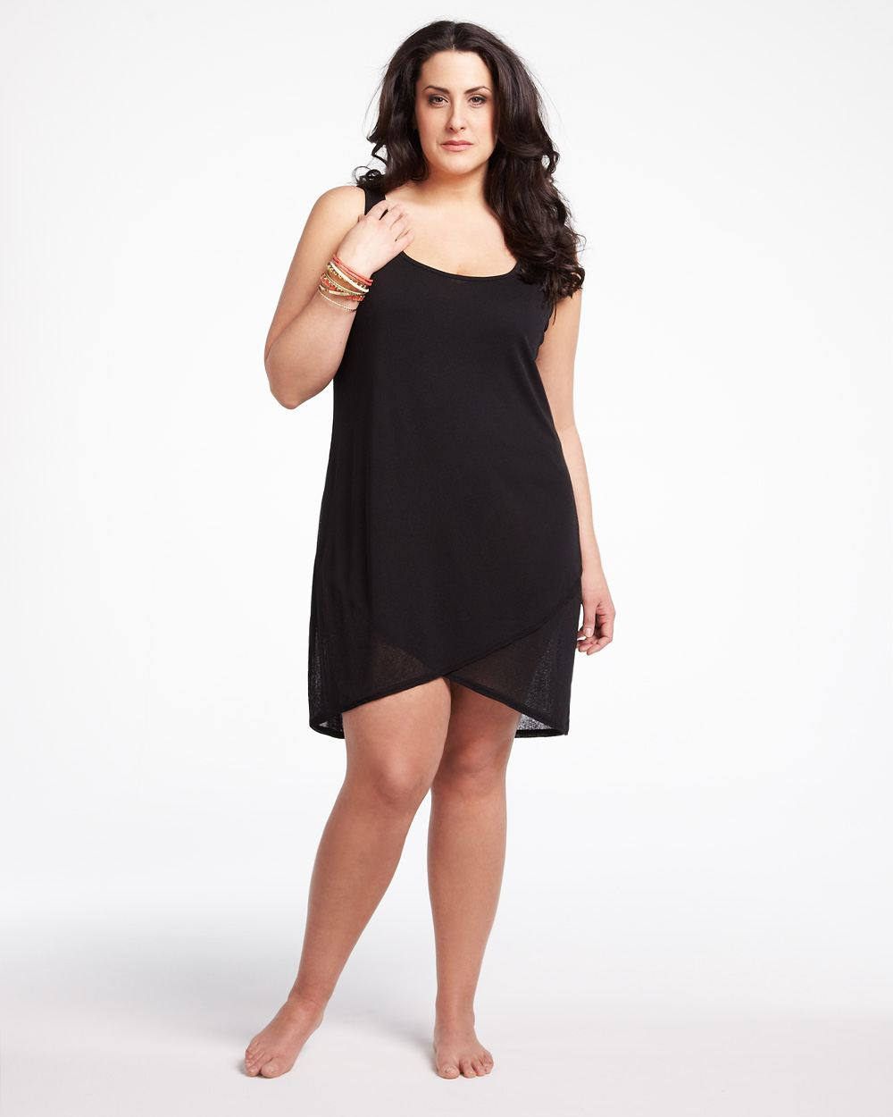 Plus size dress in black plus size skater dress dressed for How to dress up a black dress for a wedding