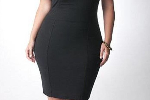 black dresses plus size long