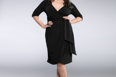 black dresses plus size wedding