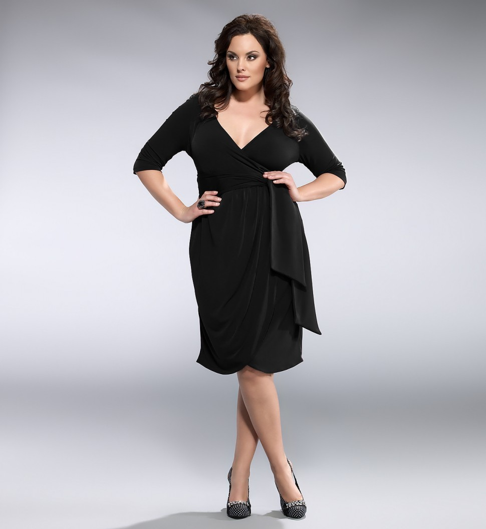 Black dresses plus size cocktail