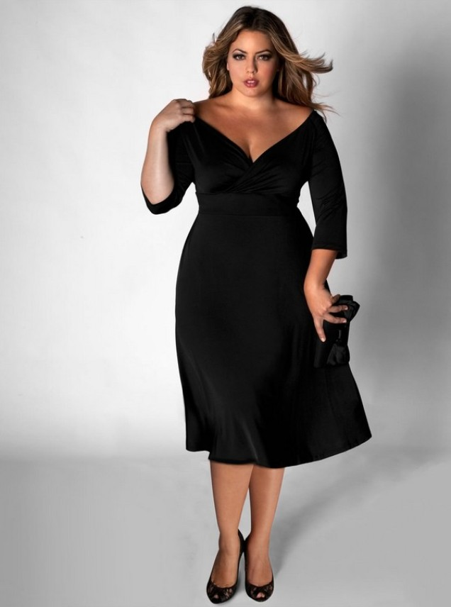 Black dresses plus size cocktail style jeans for Wedding dresses that make you look skinny
