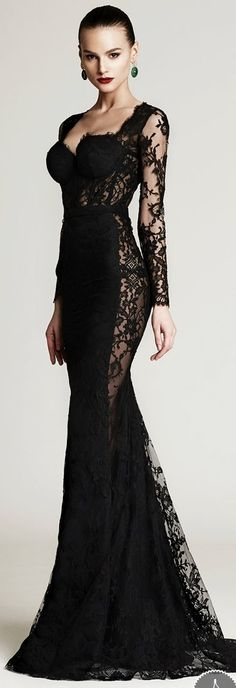 Black Evening Gown Plus Size Style Jeans