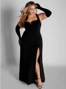 black plus size dresses cocktail