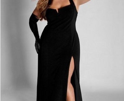 black plus size dresses cocktail