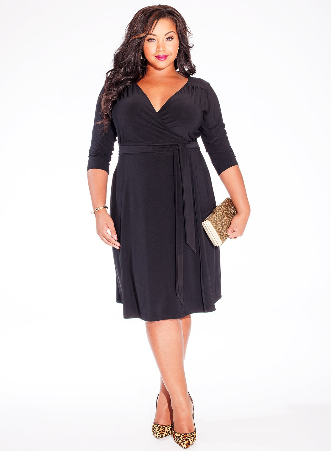 Black plus size dresses with sleeves - Style Jeans
