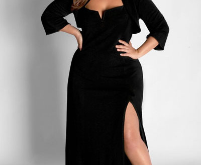 black plus size dresses for wedding