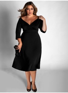 black plus size dresses long
