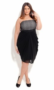 black plus size dresses with sleeves