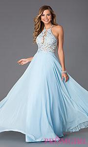 blue prom dress makeup