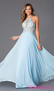 Prom dresses white and blue