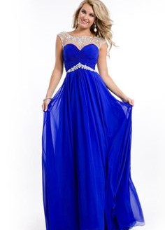blue prom dress mermaid