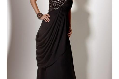 formal black dresses for funerals