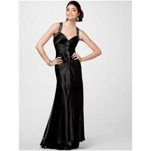 formal black dresses short