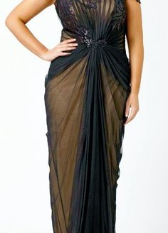formal plus size dresses with sleeves