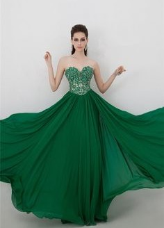 green formal dresses 2