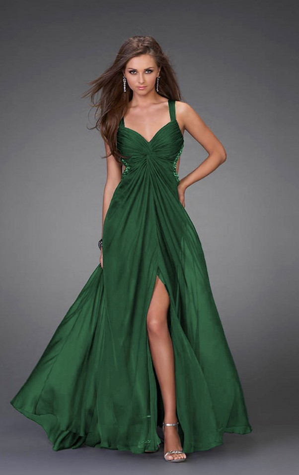 green formal dress - Dress Yp