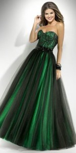 green formal dresses with sleeves