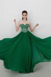 green prom dress 2
