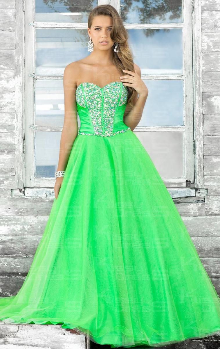 Green Prom Dress Long - Style Jeans