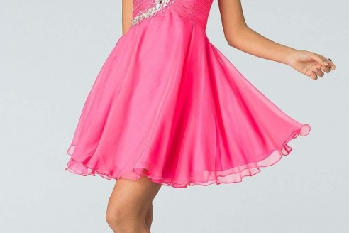 junior formal dresses short