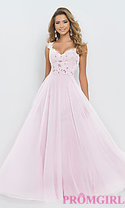pink prom dress long