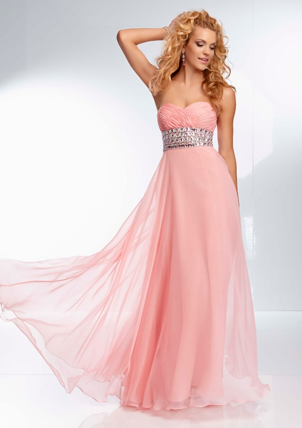 Pink prom dress long style jeans for Pink homecoming dresses