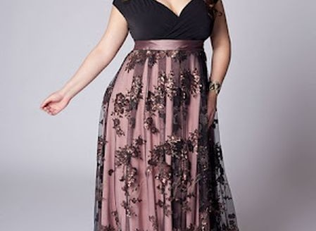 plus size formal evening dresses