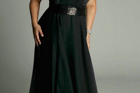 plus size formal gowns with sleeves