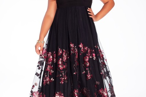 plus size formal wear tops