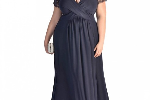 plus size gown with sleeves