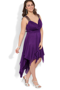 plus size high low dresses casual