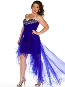 plus size high low dresses prom
