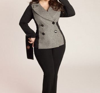 plus size jacket with hood