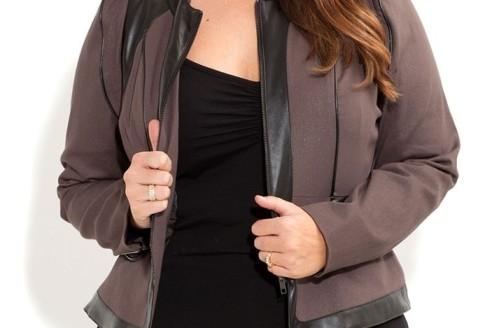 plus size jacket with thumb holes