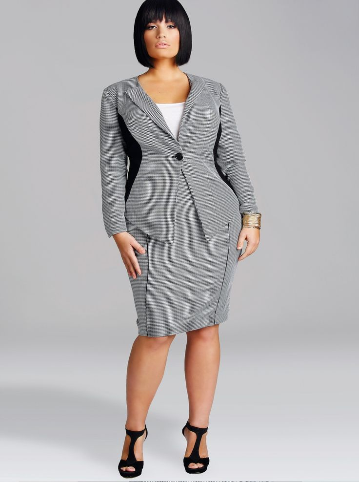 Make the office jealous in our trendy plus size work clothes: blazers, Kady pants, and shift dresses perfect for your Monday-Friday rotation.