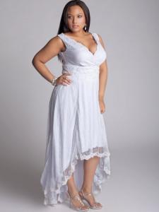 plus size white party dress 2