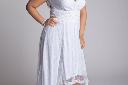 plus size white party dress 2