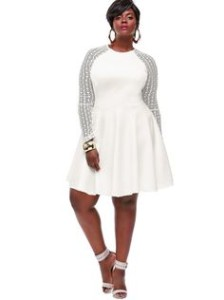 plus size white party dress 3