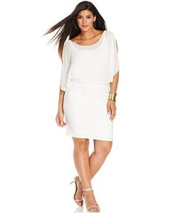 plus size white party dress 4