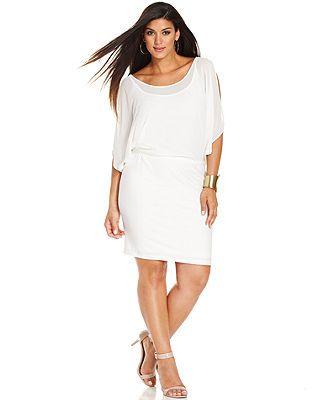 White plus party dress
