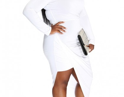 plus size white party dress 5