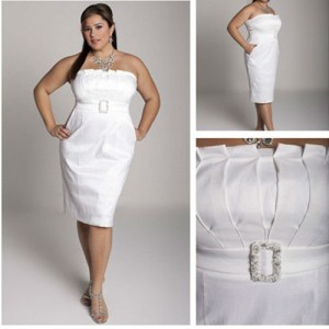 plus size white party dress 7